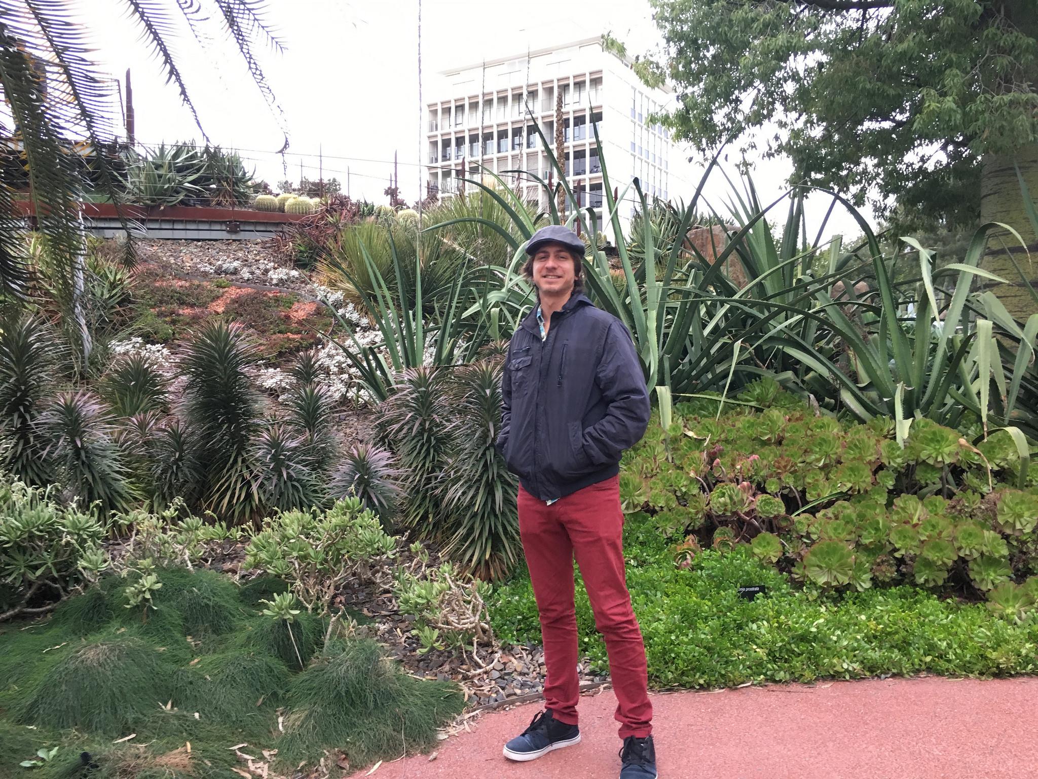 homem em frente a varios cactus