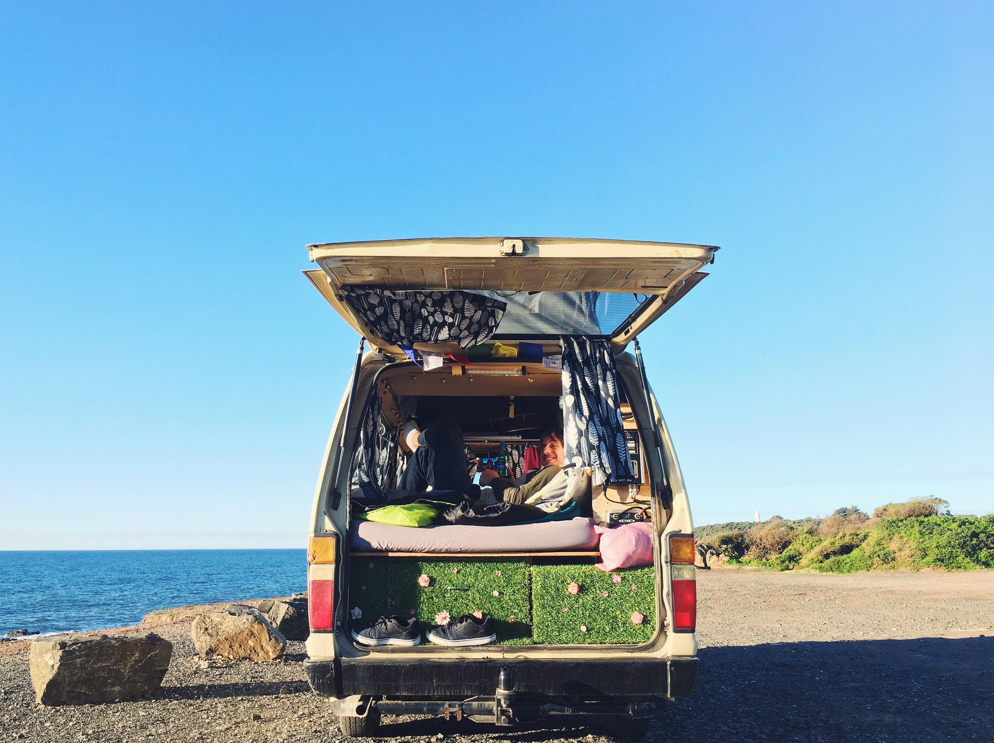 campervan na praia