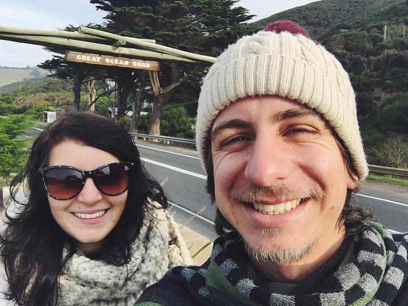 turistas na great ocean road