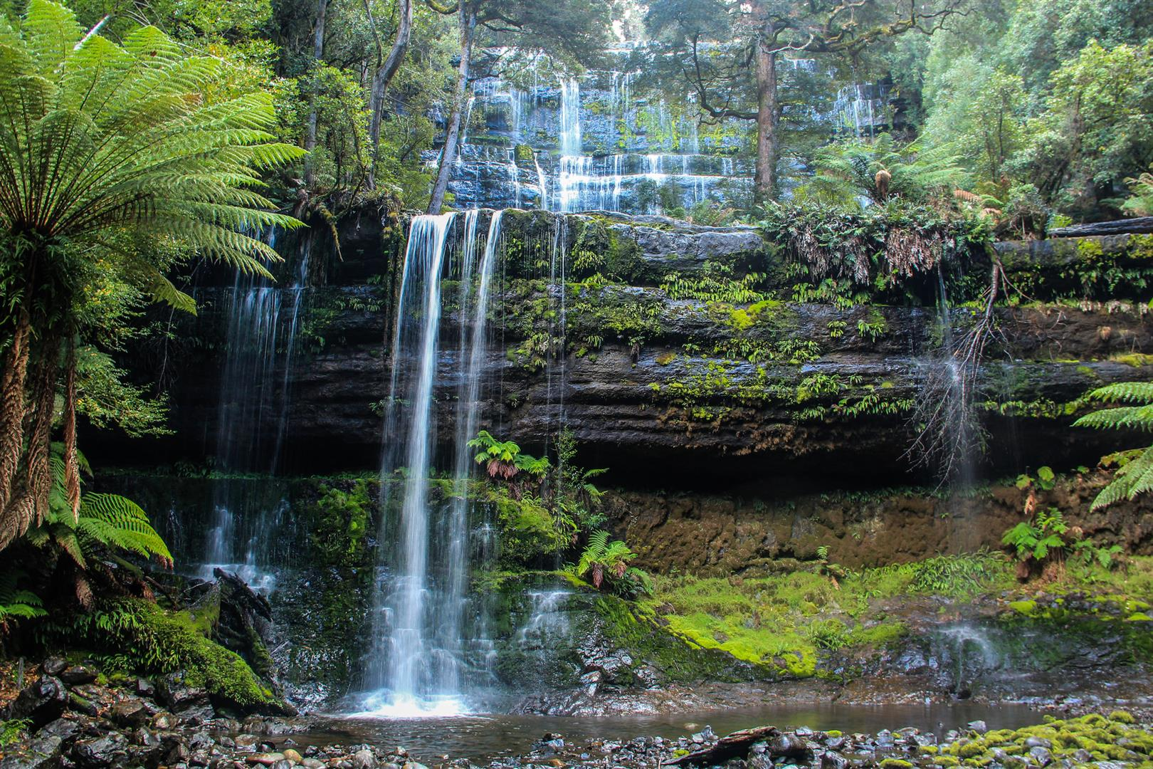 cachoeiras na tasmania